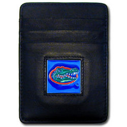 Florida Gators Leather Money Clip/Cardholder Packaged in Gift Box