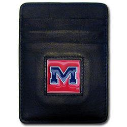 Mississippi Rebels Leather Money Clip/Cardholder Packaged in Gift Box