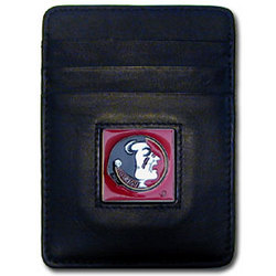 Florida St. Seminoles Leather Money Clip/Cardholder Packaged in Gift Box