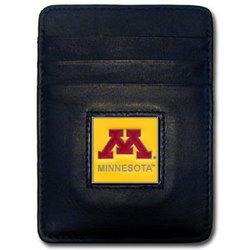 Minnesota Golden Gophers Leather Money Clip/Cardholder Packaged in Gift Box