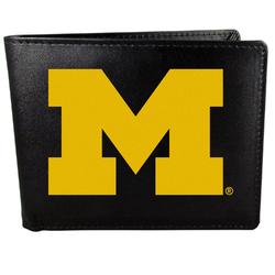 Michigan Wolverines Leather Bi-fold Wallet, Large Logo