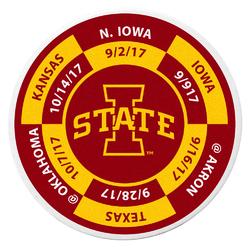 Iowa St. Cyclones Schedule Golf Ball Marker Coin