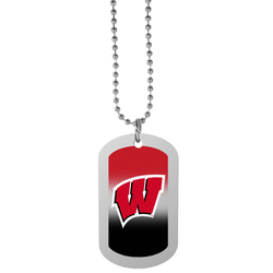 Wisconsin Badgers Team Tag Necklace
