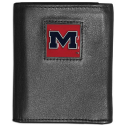 Mississippi Rebels Leather Tri-fold Wallet
