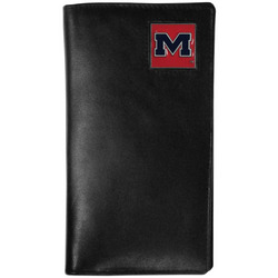 Mississippi Rebels Leather Tall Wallet