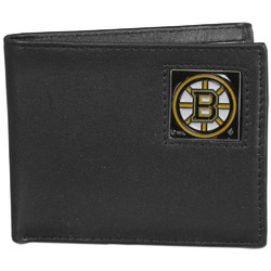 Boston Bruins® Leather Bi-fold Wallet Packaged in Gift Box