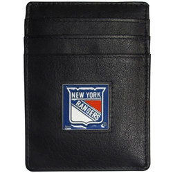 New York Rangers® Leather Money Clip/Cardholder Packaged in Gift Box