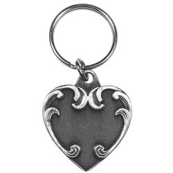 Heart Antiqued Keyring