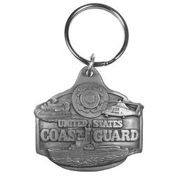 Coast Guard Antiqued Keyring