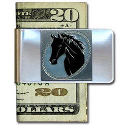 Horse Head Large Steel Money Clip