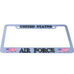 Category: Dropship Military, Patriotic & Firefighter, SKU #MTF600, Title: Air Force Tag Frame
