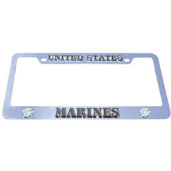 Category: Dropship Military, Patriotic & Firefighter, SKU #MTF602, Title: Marines Tag Frame
