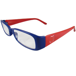 Blue and Red Reading Glasses Power +1.50, 3 pack