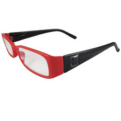 Red and Black Reading Glasses Power +2.25, 3 pack
