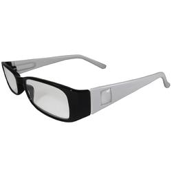 Black and White Reading Glasses Power +1.25, 3 pack