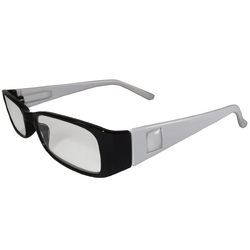 Black and White Reading Glasses Power +2.50, 3 pack