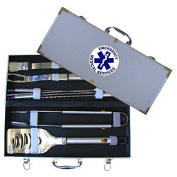 Category: Dropship Military, Patriotic & Firefighter, SKU #SBBQ50, Title: EMS 8 pc BBQ Set