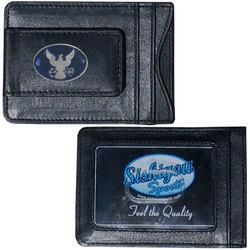 Navy Leather Cash & Cardholder