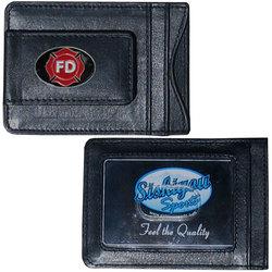 Firefighter Leather Cash & Cardholder