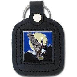 Sq. Leather Keychain - Eagle