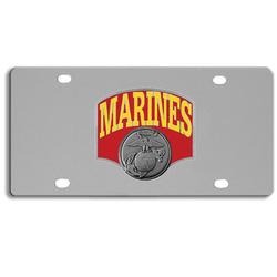 Category: Dropship Patriotic & Firefighter, SKU #SPLT19, Title: DISC MARINES LICENSE PLATE