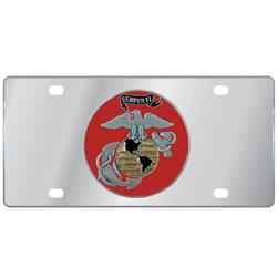 Category: Dropship Patriotic & Firefighter, SKU #SPLT19A, Title: DISC SEMPER FI LICENSE PLATE