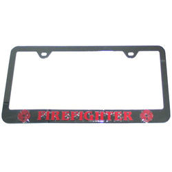 Category: Dropship Military, Patriotic & Firefighter, SKU #STF805C, Title: Fire Fighter Tag Frame
