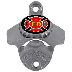 Firefighter Wall Bottle Opener
