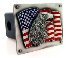 Trailer Hitch - Flag & Eagle