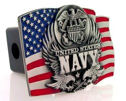 Category: Dropship Military, Patriotic & Firefighter, SKU #TH7, Title: Trailer Hitch - Navy