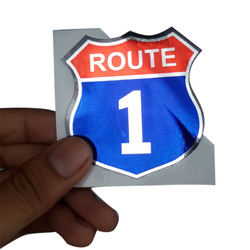 Route 1 Chrome(Silver) California Sticker