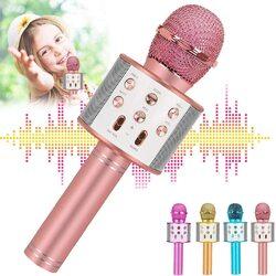 3 in 1 Wireless Bluetooth Speaker Karaoke Portable Microphone for Kids, Best Gifts Toys