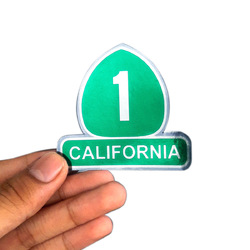 California Number 1 Sticker Chrome(silver) Sticker