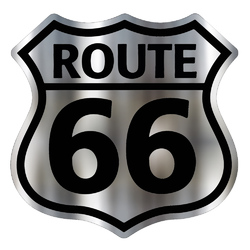 Route 66 Chrome Sticker Decal