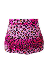 Rosy Leopard Print Retro High Waist Swim Bottom