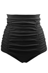 Black Retro High Waisted Swim Short