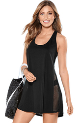 Black Mesh Side Racerback Coverup